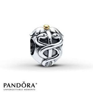 Pandora Nursing Charm Sterling Silver LIKE NEW